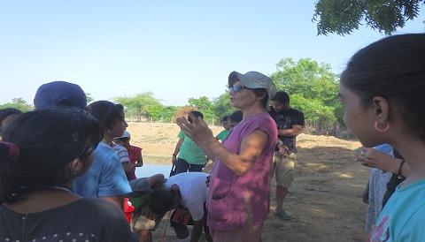 オーロビルで農場を開設した女性