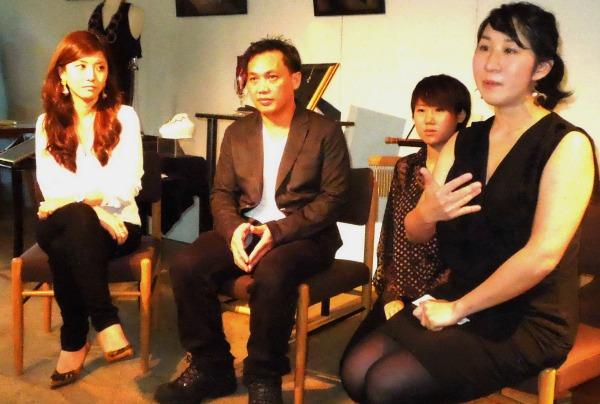 トークショーの様子((左から、田代さん、エドガーさん、山下さん)