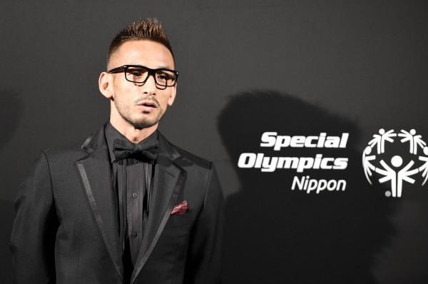 スペシャルオリンピックスの認知度向上に向け挨拶した中田氏=10月31日、パークハイアット東京で