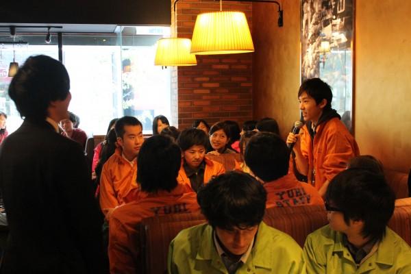 表彰式には、20を超える大学の学園祭実行委員が集まった=11月30日、東京・渋谷のBARU&DINING GOHAN ゴハン 渋谷神南店