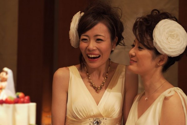 夢の国で初となる同性婚の結婚式があげられた