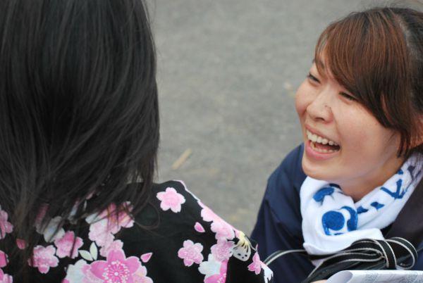大学生として東京で吸収したことを伝えたいと言う高橋さん