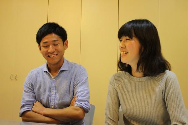 ボランティアで学んだことを話すそう手さん(左)と川嶋さん