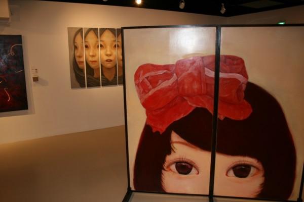 5つの美大(女子美術大学、多摩美術大学、東京造形大学、日本大学藝術学部、武蔵野美術大学)の有志で企画された「五美大交流展」=2013年1月