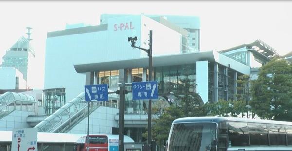 現在の仙台駅東口バスターミナル付近
