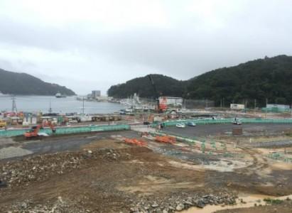 復興が進む女川町。津波に飲み込まれ、震災以前にあった建物は姿を消していた
