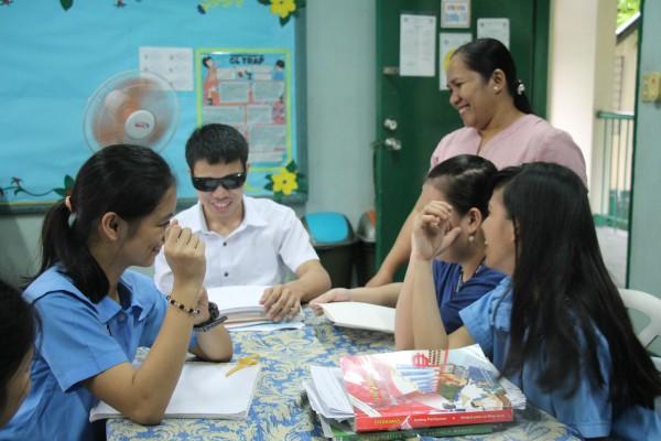 盲学校での授業の様子